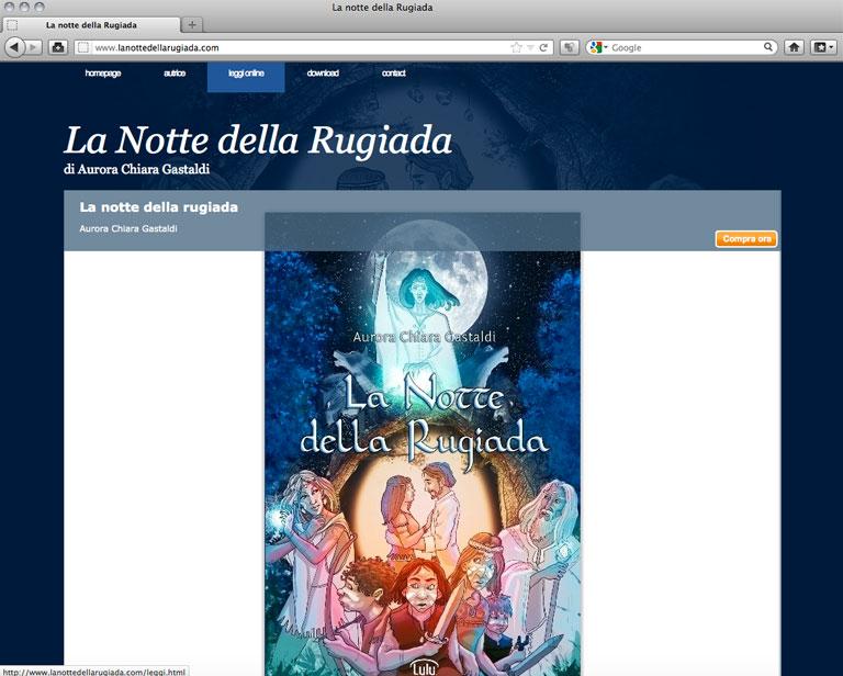 Lanottedellarugiada.com - Anteprima libro - aurorachiara.com