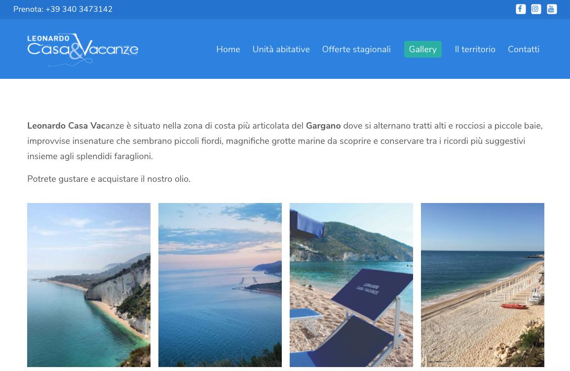 Sito Leonardo casa vacanze - aurorachiara.com