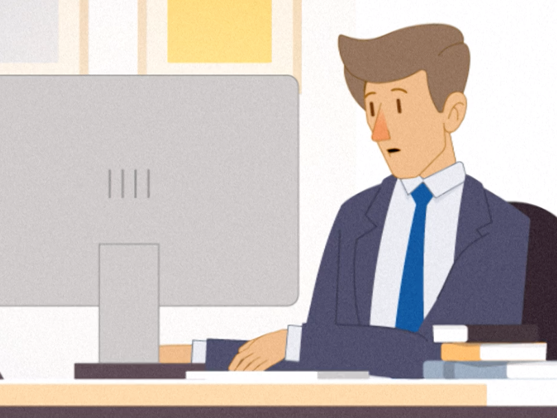 Manager, motion graphic, illustrazione di Andrea Lai - aurorachiara.com