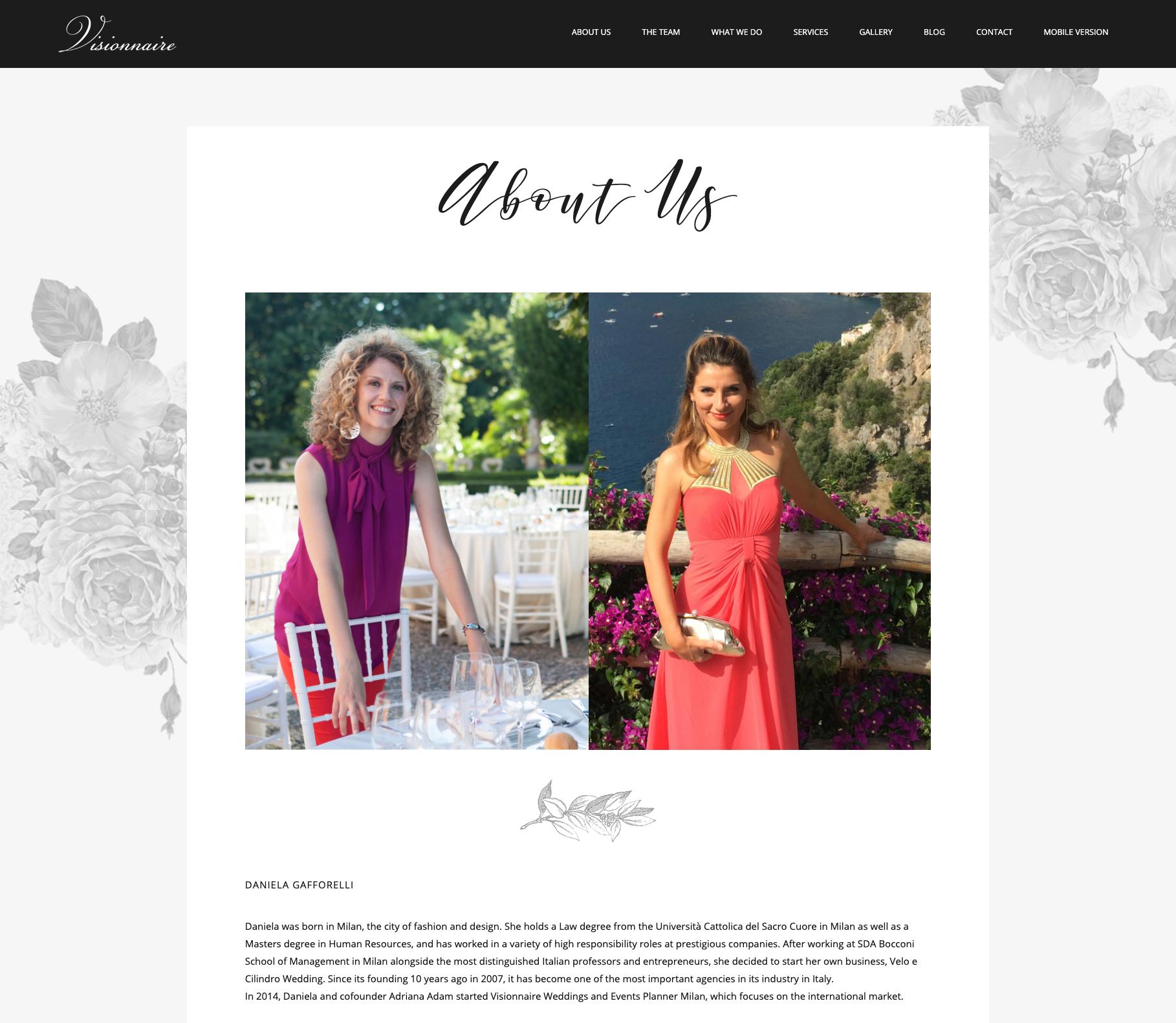 Sito Visionnaire wedding - aurorachiara.com